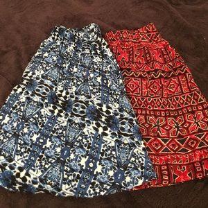 2 skirts